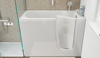Bathtub with door to the Oasi series