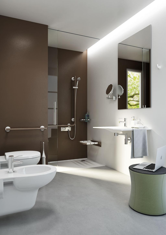 Design minimal white bath