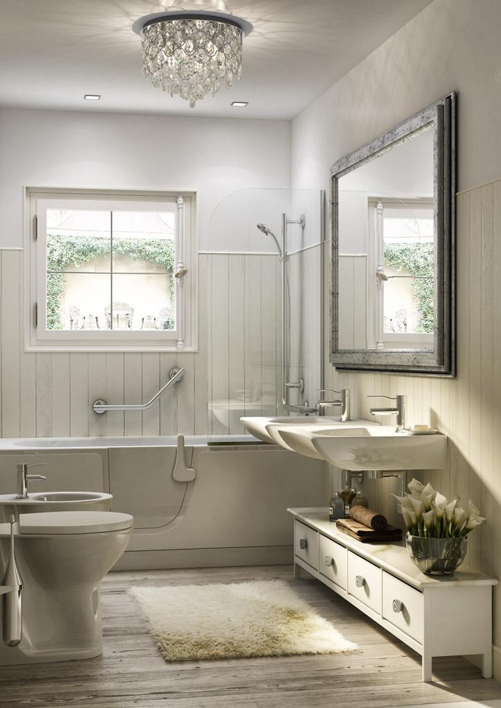 design shebby chic bath