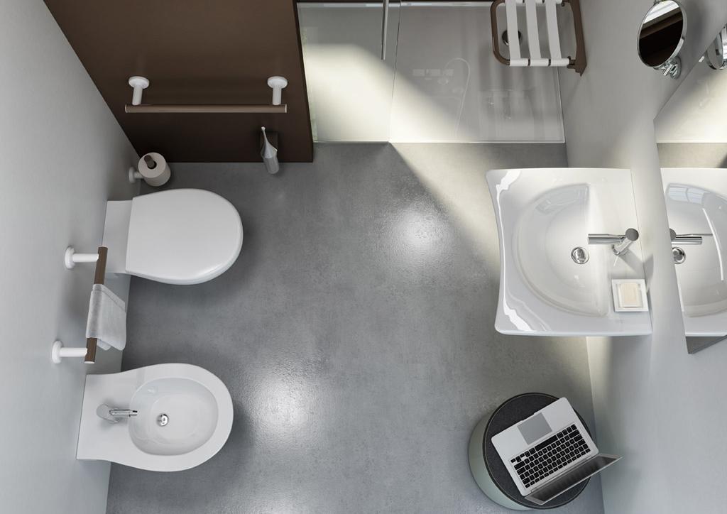 Minimal white bath